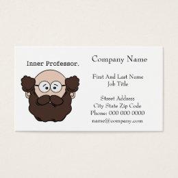 Phd business cards templates zazzle inner professor bearded teacher cartoon business card reheart Gallery