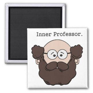 Inner Professor Bearded Teacher Cartoon Magnet