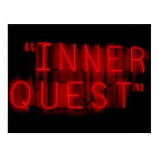 Inner Quest Neon Sign Postcard