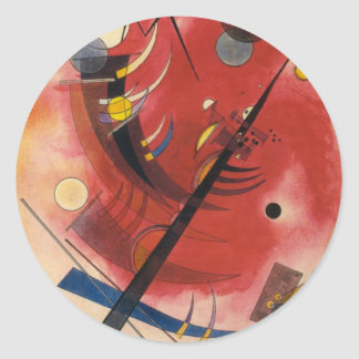 Inner Simmering Abstract Painting Classic Round Sticker