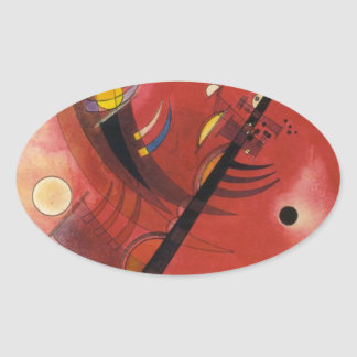 Inner Simmering Abstract Painting Oval Sticker