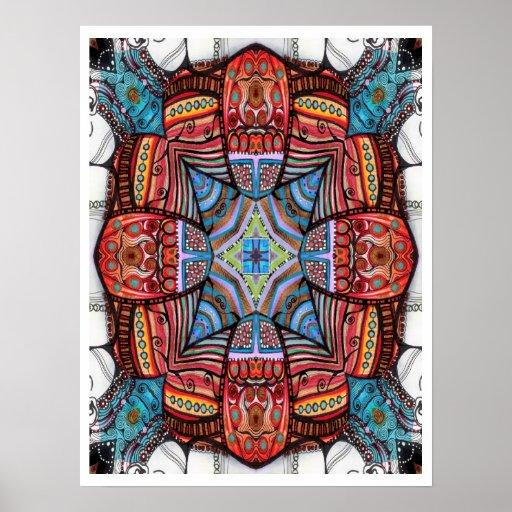 Inner Soul Abstract Art Poster