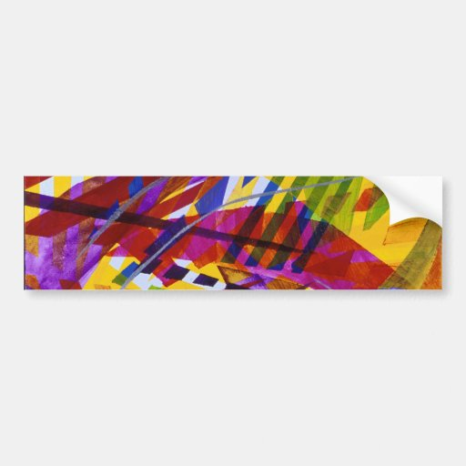 Inner Space – Abstract Rainbow Streams Bumper Sticker