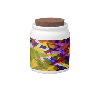 Inner Space – Abstract Rainbow Streams Candy Jars