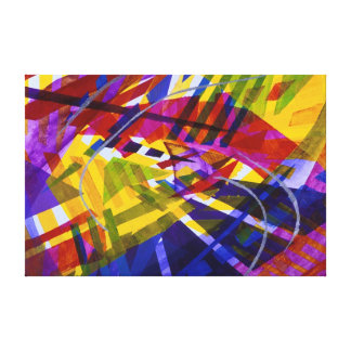 Inner Space – Abstract Rainbow Streams Stretched Canvas Print