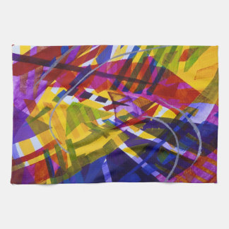 Inner Space – Abstract Rainbow Streams Hand Towels