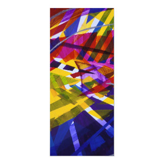 Inner Space – Abstract Rainbow Streams 4x9.25 Paper Invitation Card