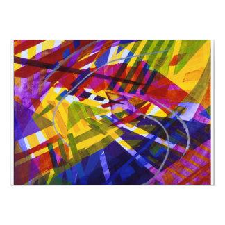 "Inner Space – Abstract Rainbow Streams 5"" X 7"" Invitation Card"
