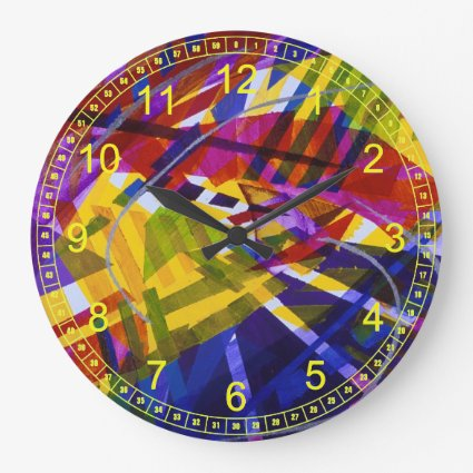 Inner Space – Abstract Rainbow Streams Light Wall Clocks