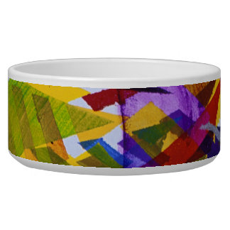 Inner Space – Abstract Rainbow Streams Pet Bowls