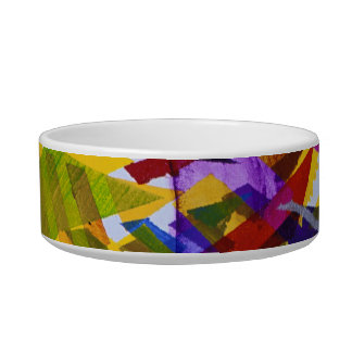 Inner Space – Abstract Rainbow Streams Pet Food Bowls