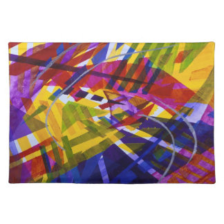 Inner Space – Abstract Rainbow Streams Placemats