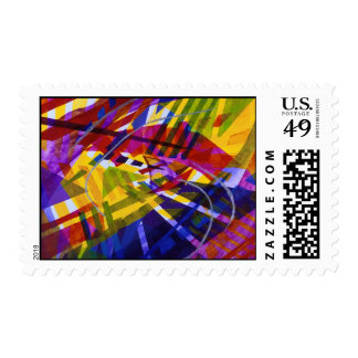 Inner Space – Abstract Rainbow Streams Postage