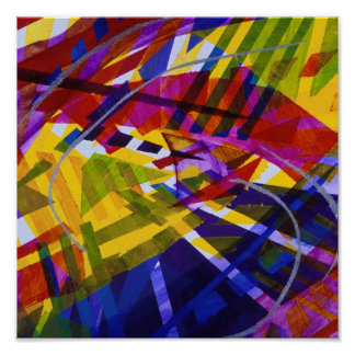 Inner Space – Abstract Rainbow Streams Poster