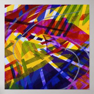 Inner Space – Abstract Rainbow Streams Print