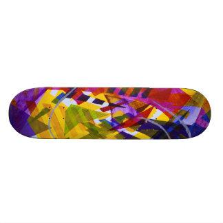 Inner Space – Abstract Rainbow Streams Skateboard