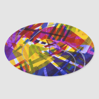 Inner Space – Abstract Rainbow Streams Sticker