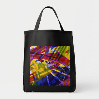 Inner Space – Abstract Rainbow Streams Tote Bag