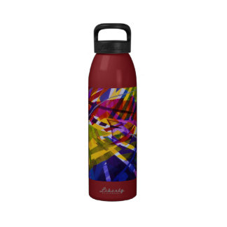 Inner Space – Abstract Rainbow Streams Drinking Bottle