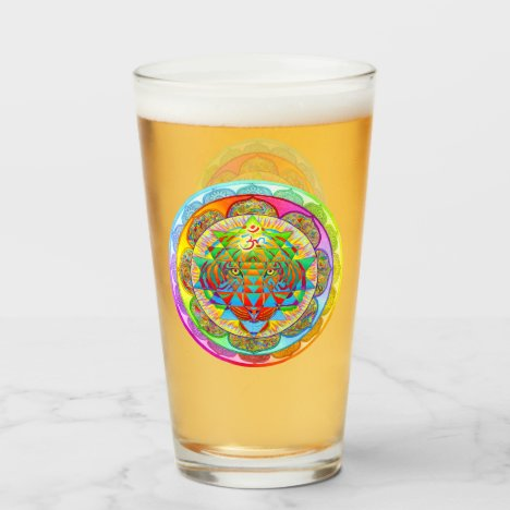Inner Strength Psychedelic Mandala Glass Cup