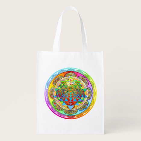 Inner Strength Psychedelic Mandala Reusable Bag