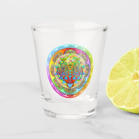 Inner Strength Psychedelic Mandala Shot Glass