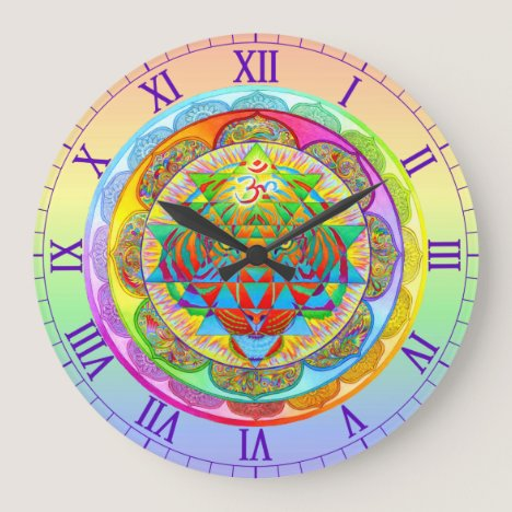 Inner Strength Psychedelic Mandala Wall Clock
