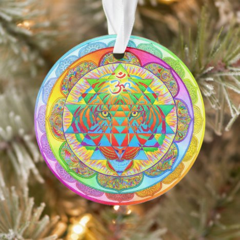 Inner Strength Rainbow Mandala Acrylic Ornament