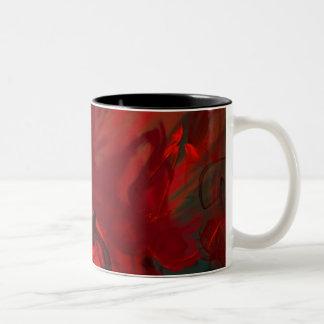 inner turmoil Two-Tone coffee mug