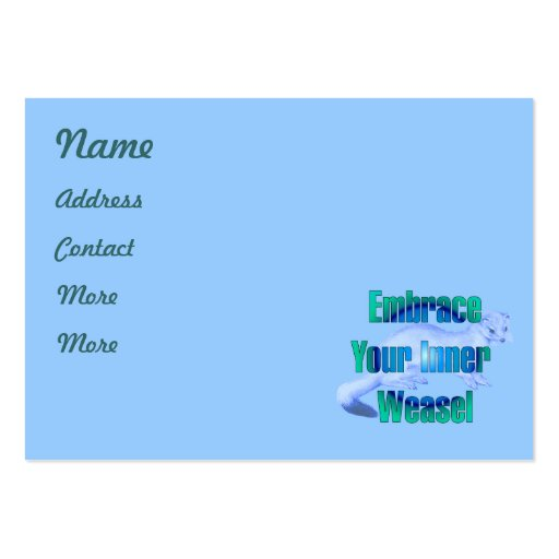Inner Weasel Large Business Cards (Pack Of 100)