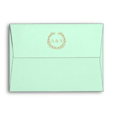 Beach Themed Inner Wedding & Reception Envelope