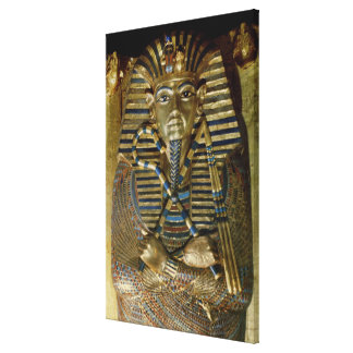 Innermost coffin of Tutankhamun Canvas Print