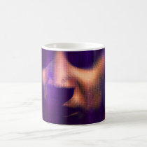cyber, face, digital, art, houk, digital art, Mug with custom graphic design