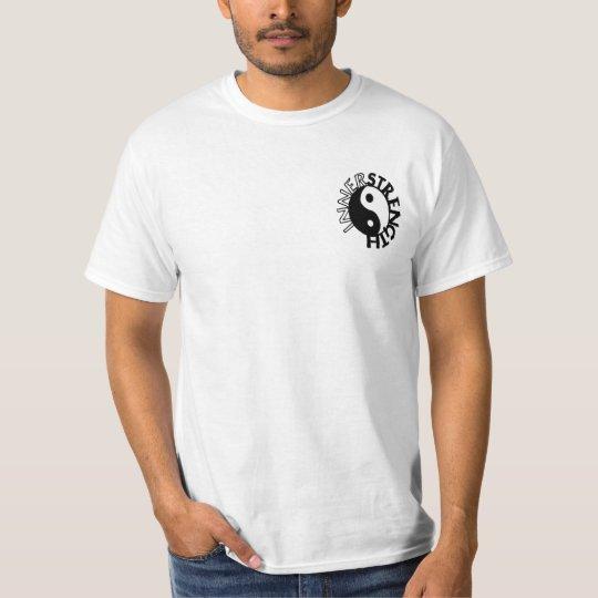 innerstrength white with black logo T-Shirt