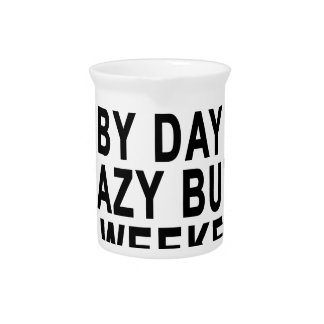 Innkeeper by Day Lazy Butt Weekend Tees.png Beverage Pitcher
