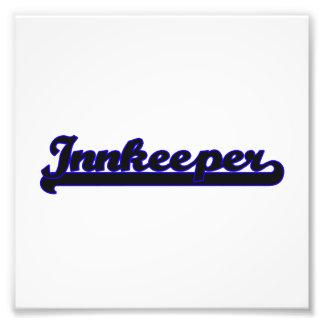 Innkeeper Classic Job Design Photo Print
