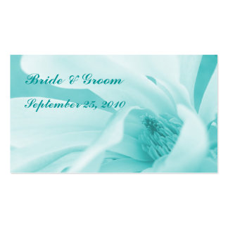 Innocence 3: Aqua wedding or party favour card Business Cards