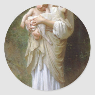Innocence by William-Adolphe Bouguereau Classic Round Sticker