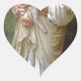 Innocence by William-Adolphe Bouguereau Heart Sticker