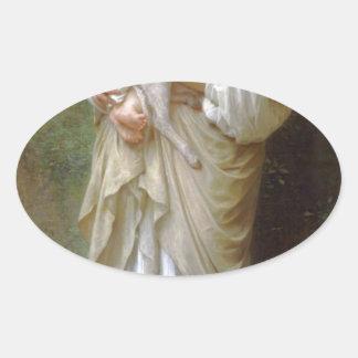 Innocence by William-Adolphe Bouguereau Oval Sticker