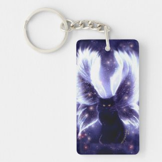 Innocence Fairy Cat Keychain