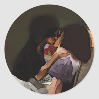Innocence Kiss Classic Round Sticker