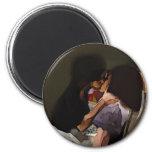 Innocence Kiss Refrigerator Magnet