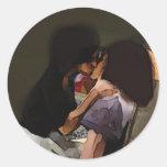 Innocence Kiss Round Sticker
