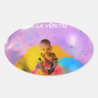 innocence. oval sticker