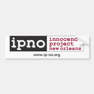 Innocence Project New Orleans Bumper Sticker