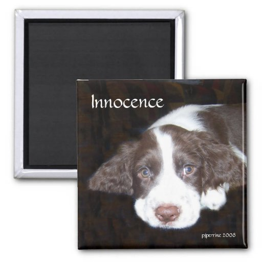 Innocence - Puppy Love Fridge Magnet