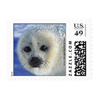 Innocence Seal Pup Baby small postage stamp
