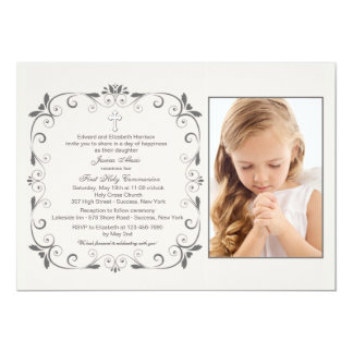 Innocence Square Photo Invitation