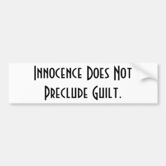 Innocence Sticker Bumper Stickers